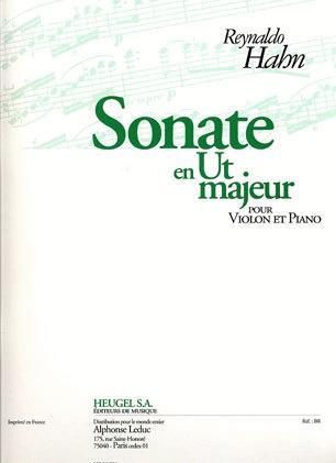 Hahn, Reynaldo: Sonate in C Major (violin & piano)