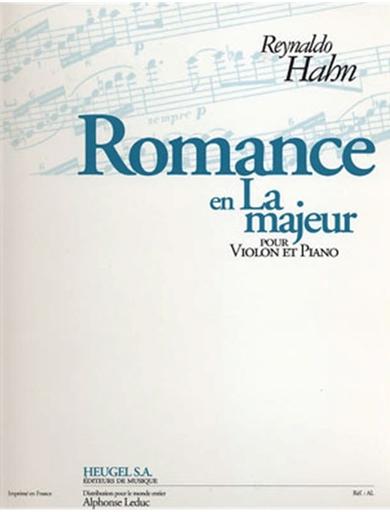 Hahn, Reynaldo: Romance in A Major (Violin & Piano)