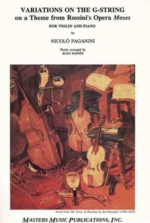 LudwigMasters Paganini, Niccolo : Moses Variations (violin & piano)