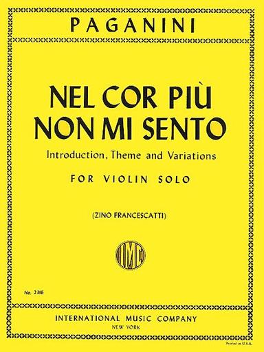 International Music Company Paganini (Francescatti): Nel cor piu non mi sento (violin solo) IMC