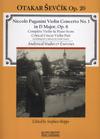 HAL LEONARD Paganini: Violin Concerto No.1 and Sevcik Op. 20