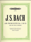 Bach, J.S. (Campbell): Air ''on the G String'' from Suite #3 in D (violin/piano)