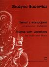 Carl Fischer Bacewicz, Grazyna: Theme & Variations (violin & piano)
