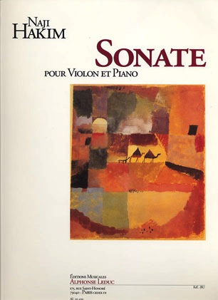 Hakim, Naji: Sonate pour Violon et Piano (violin & piano)