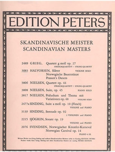Halvorsen, Slatter: Norwegian Peasant Dances (violin solo)