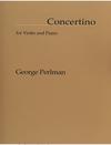 Carl Fischer Perlman, George: Concertino (violin & piano)