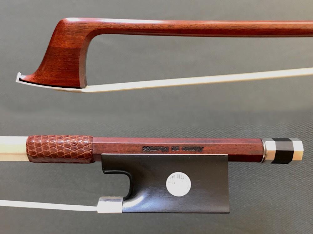 Brazilian Alysio de Mattos violin bow, Pernambuco/silver, Brazil
