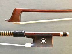English W.D. WATSON LONDON gold/tortoise violin bow, ENGLAND