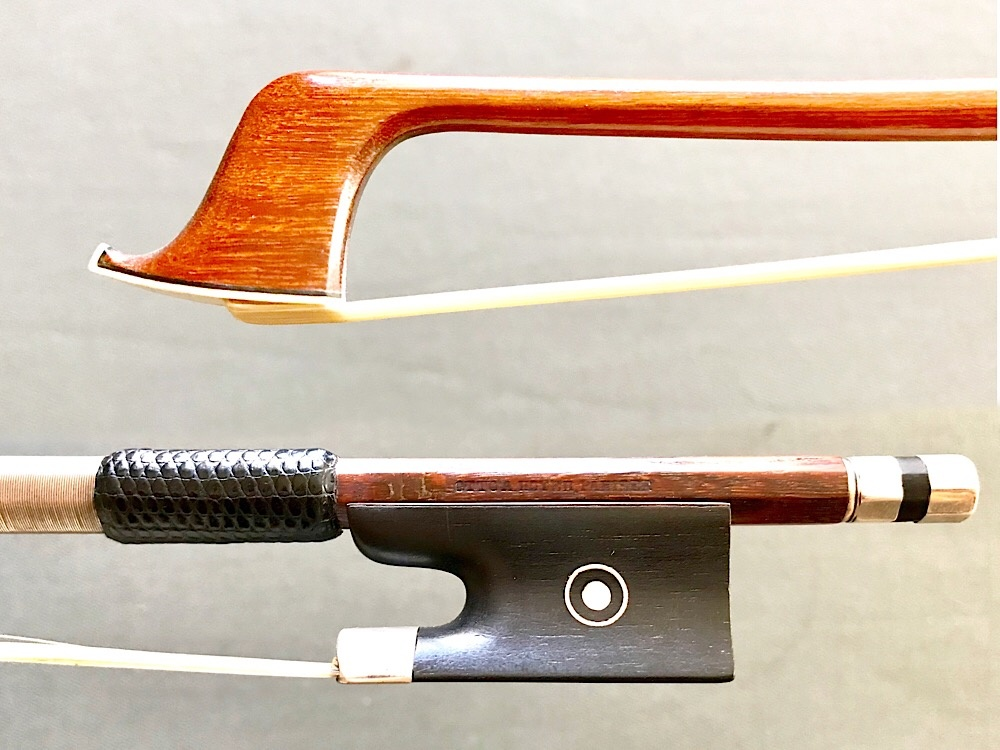 Otto Hoyer Pariser violin bow, silver
