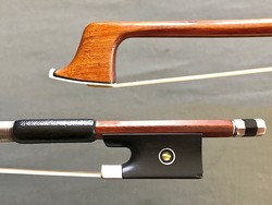 HERM W. PRELL violin bow ebony & silver, 64.6 g. GERMANY