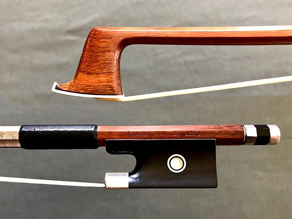 A. NÜRNBERGER violin bow, silver & ebony