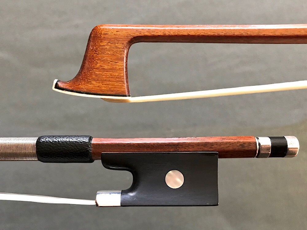 TOURTE silver-mounted violin bow, GERMANY