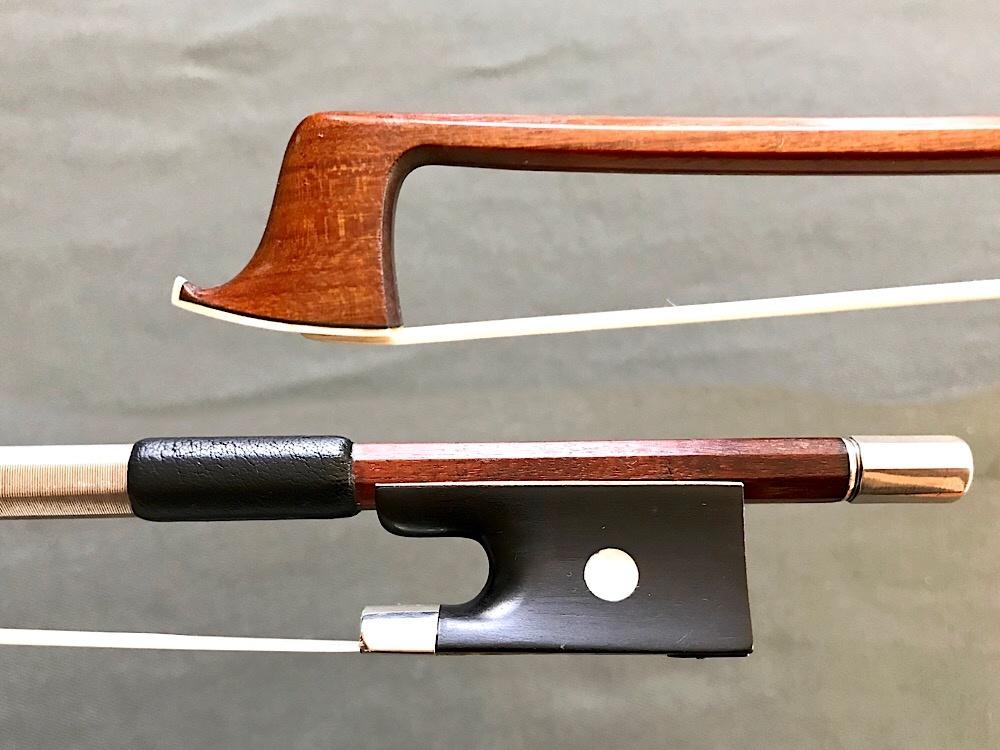 G.A. Pfretzschner violin bow, silver & ebony, Markneukirchen, GERMANY