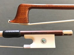K. MÜLLER violin bow, ivory/silver, GERMANY