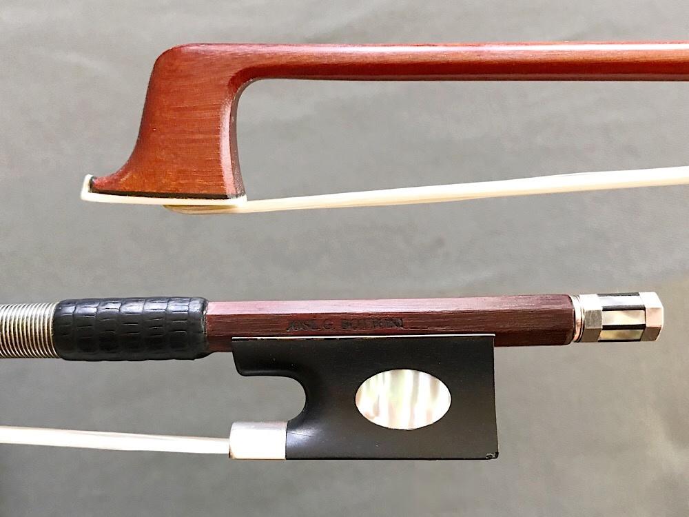 Brazilian J.G. BOTTONI used silver violin bow, Pageot model, 61.5 grams, Brazil