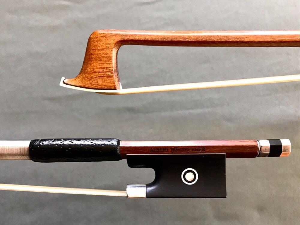 ALBERT NÜRNBERGER silver violin bow, GERMANY