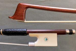 Rudolf Riedl violin bow, ivory & silver