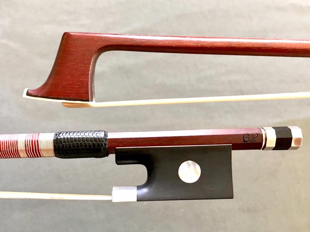 G. Paulus violin bow, ebony & silver