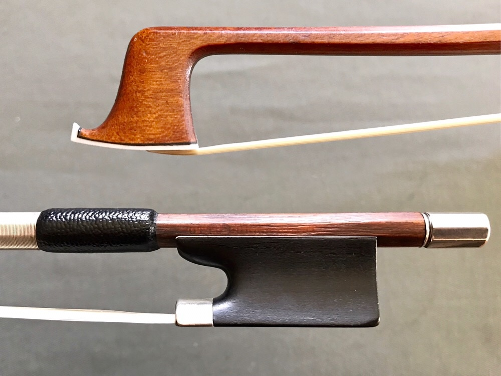 OTTO DURRSCHMIDT GERMANY used violin bow, ebony & silver mounted