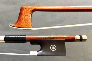 F.N. VOIRIN branded nickel violin bow, octagonal, GERMANY
