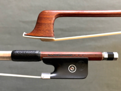 G.A. PFRETZSCHNER violin bow, silver-mounted, GERMANY