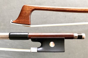German violin bow, siver & ebony branded GERMANY