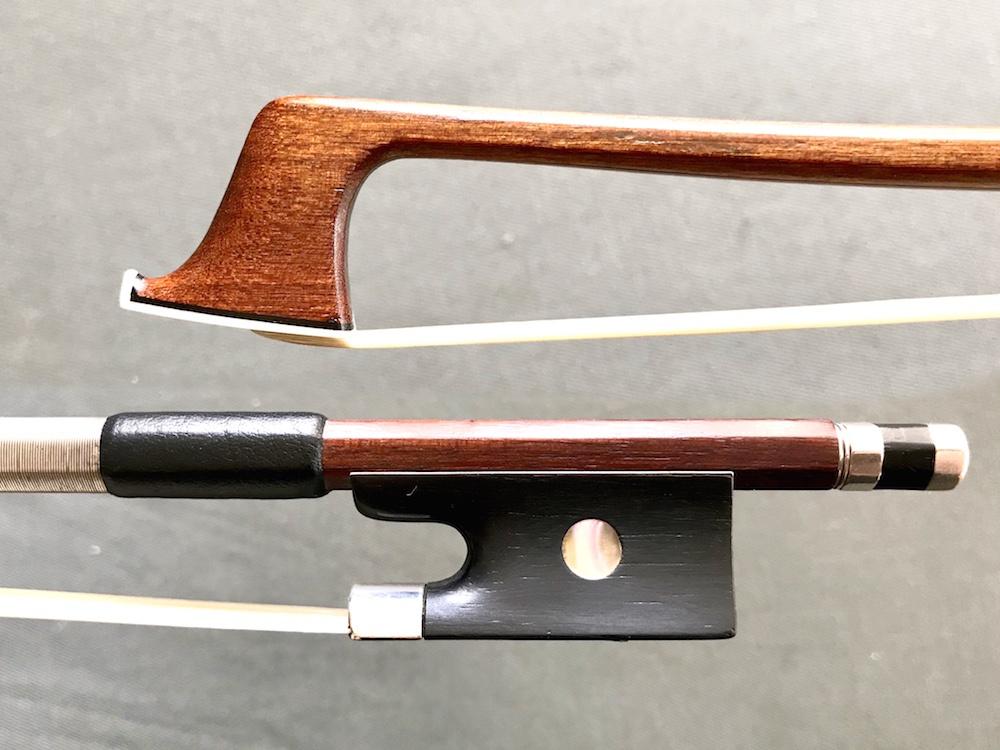 German violin bow, siver & ebony branded GERMANY