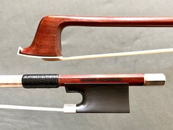 Brazilian MANOEL FRANCISCO silver violin bow with Hill-style seating, Brazil