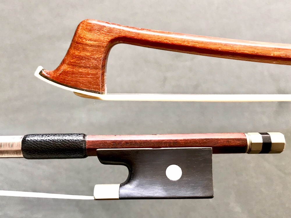 F.C. PFRETZSCHNER nickel violin bow, GERMANY