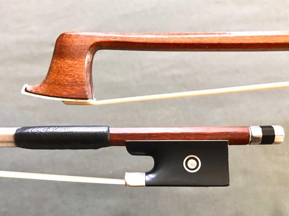K. PENZEL Pernambuco violin bow, silver & ebony