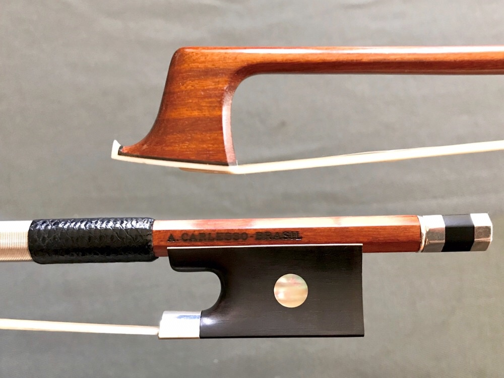 Arcos Brasil A. CARLESSO silver violin bow, Peccatte copy, from ARCOS BRASIL