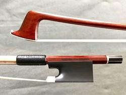 Brazilian MANOEL FRANCISCO Art Deco-style silver-mounted viola bow, Brazil