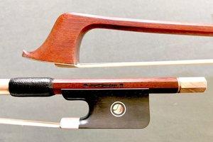 Sandner *J. Sandner* cello bow, ebony/engraved silver, Germany