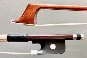 French R. SCHALLOCK A Paris silver cello bow, FRANCE, 80.4 grams