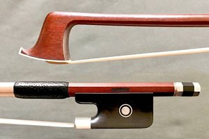 WANKA H. WANKA Pernambuco viola bow, silver & ebony, round stick, made in Germany