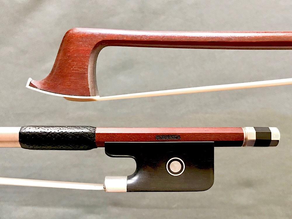 WANKA H. WANKA Pernambuco viola bow, silver & ebony, round stick, made in Germany