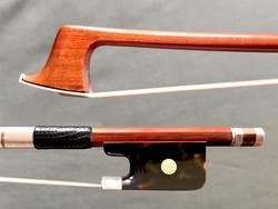 Faux tortoise & silver viola bow