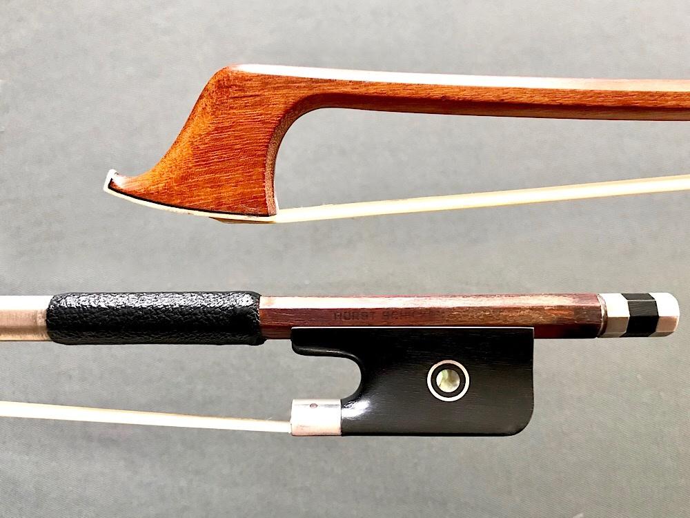 H. SCHICKER cello bow, silver/ebony