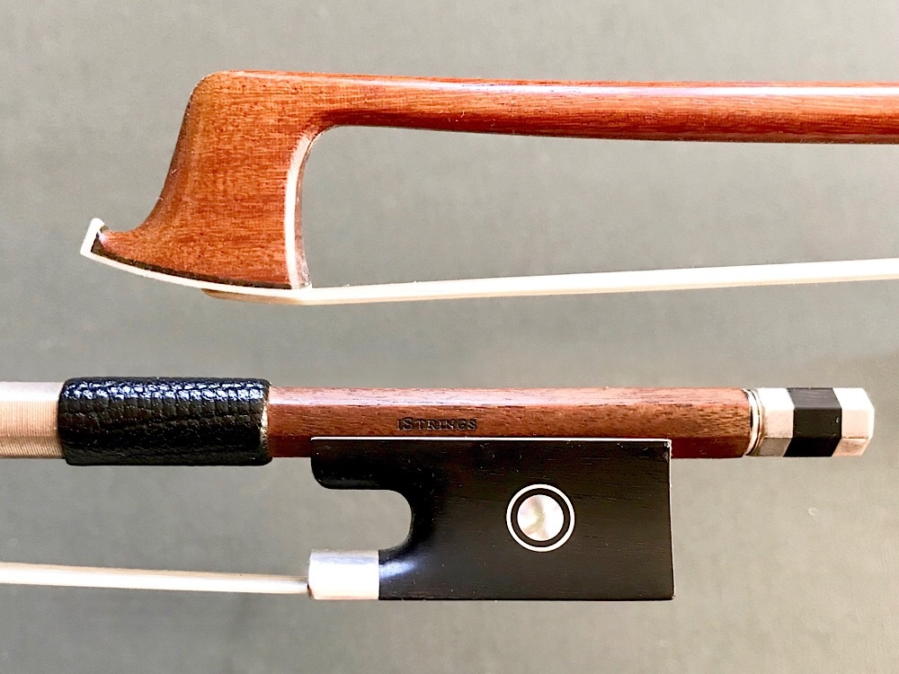 Brazilian I STRINGS V. ZUCCHI 3/4 round silver Pernambuco violin bow, BRASIL