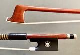 Brazilian CIRILO SOUSA 3/4 nickel Pernambuco violin bow, BRAZIL