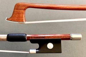 HERCULANO 1/2 violin bow nickel half-mounted