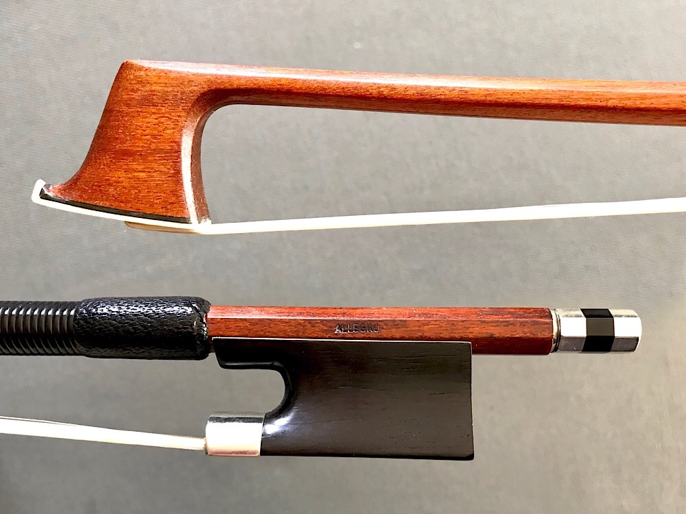 ALLEGRO branded viola bow, ebony/nickel