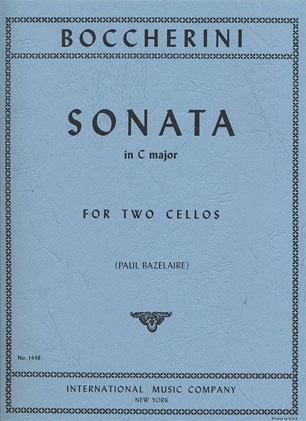 International Music Company Boccherini (Bazelaire): Sonata in C Major (2 cellos)