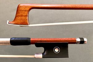 Belgian H. DELILLE violin bow, ebony / silver
