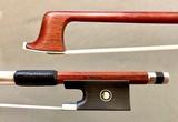 Werner G. WERNER 4/4 Pernambuco violin bow, nickel mounted ebony frog, round stick