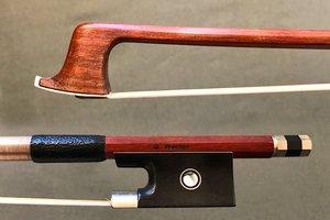 Werner G. WERNER 4/4 Pernambuco violin bow, nickel mounted ebony frog, octagonal stick