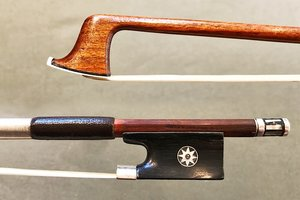 French R&M MILLANT violin bow with replaced frog & button, FRANCE