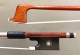 Arcos Brasil D. CHAGAS Pernambuco violin bow by Arcos Brasil, nickel-mounted, BRAZIL