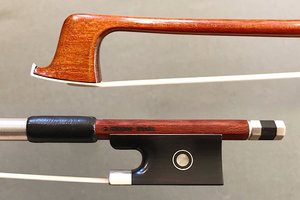 Arcos Brasil D. CHAGAS Pernambuco violin bow by Arcos Brasil, nickel-mounted, BRAZIL