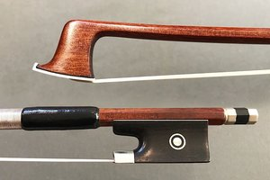 ROMAN WERNER nickel/Pernambuco violin bow, GERMANY